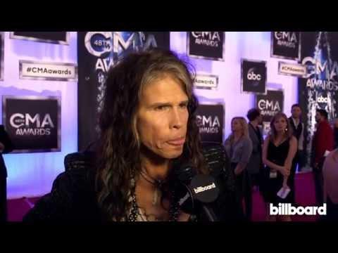 Steven Tyler / Aerosmith on the CMA Awards Red Carpet 2014