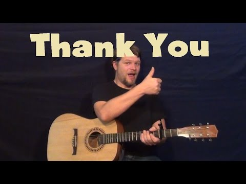 Thank You (Led Zeppelin/Tesla) Easy Guitar Lesson How To Play Tutorial