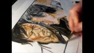 Daryl and Carol speed drawing by Meliese Reid