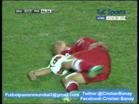 Peru 2 Brasil 0 Relato Matias Palacios) Sudamericano 2013 Los goles (18/1/2013)