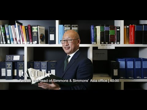 Business Leader - Paul Li, partner and head of Simmons and Simmons' Asia Office - Full Interview