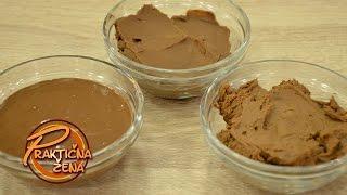 Praktična žena - Mafini od leblebija i tri vrste dekorativnog čokoladnog krema