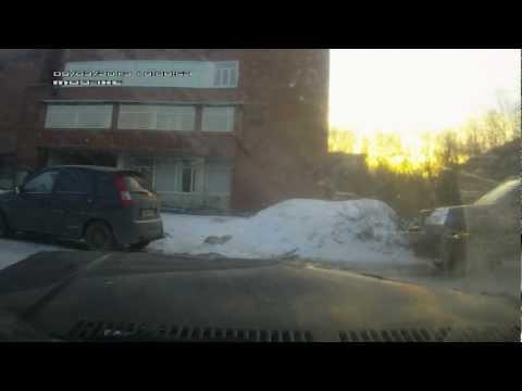 Встреча VW и BMW. Пьяный водитель. 09.03.13.