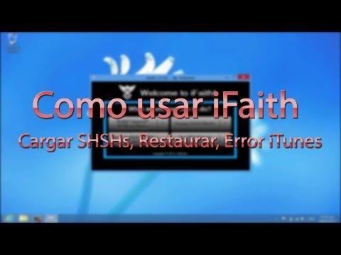 Como usar iFaith (SHSH. Restaurar. Error iTunes)