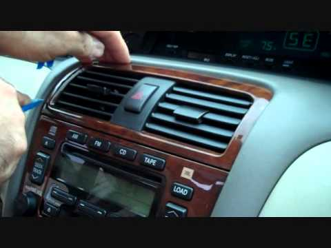 toyota avalon car stereo removal   youtube