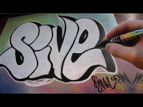 Graffiti Throw Up Canvas