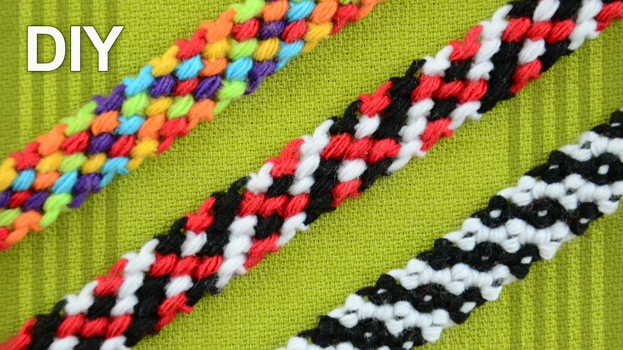 Rag Rug Friendship Bracelet / DIY Tutorial - YouTube