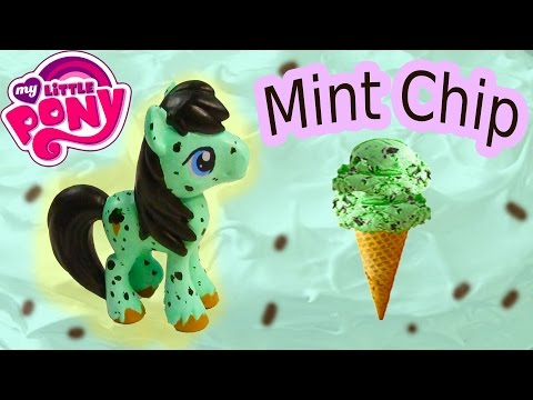 Custom MLP My Little Pony Mint Chocolate Chip Ice Cream DIY Painted Craft Stallion