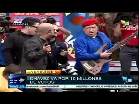 Sean Penn acompañó a Chávez en su recorrido por el estado Carabobo en Venezuela