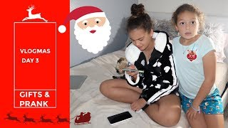 MY FIRST CHRISTMAS PRESENT FROM MY FRIEND | MY DAD PRANKS ME | VLOGMAS DAY 3