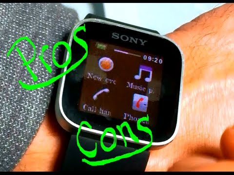 How to setup and connect Sony Smartwatch. Pros & Cons
