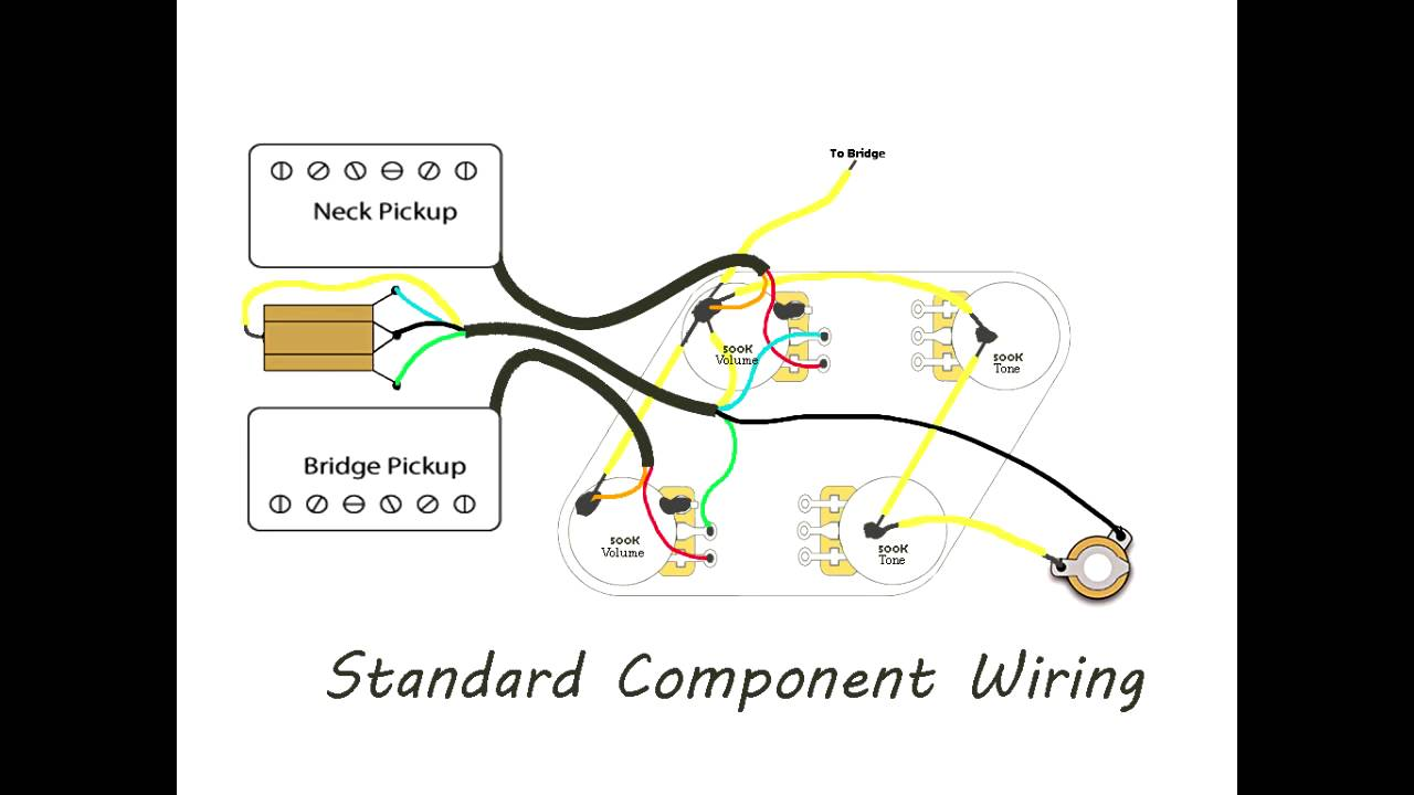 Wiring Diagram For Les Paul : Diy les paul wiring vintage versus modern youtube