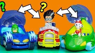 PJ Masks and Paw Patrol Super Hero Car Mix Up with Vampirina