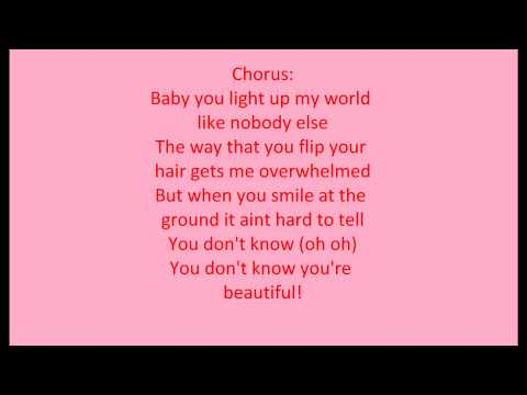 Gallery One Direction What Makes You Beautiful Lyrics ... One Direction Names In Words