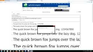 How to install Zawgyi's keyboard & Font for Windows 8 (Myanmar Version)