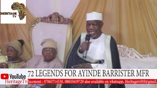 Alh. muhideen Ajani Bello lecture@ Barrister 72 birthday