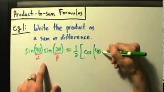 Trigonometry - Product-to-sum Formulas - Example 1