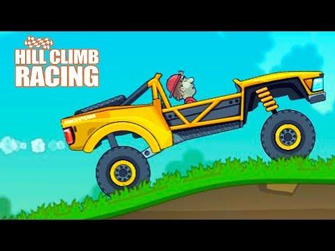 КРУТОЙ БАГГИ на БЕЗУМНОЙ АРЕНЕ!!! Мультяшная игра для детей про ГОНКИ на ТАЧКАХ Hill Climb Racing