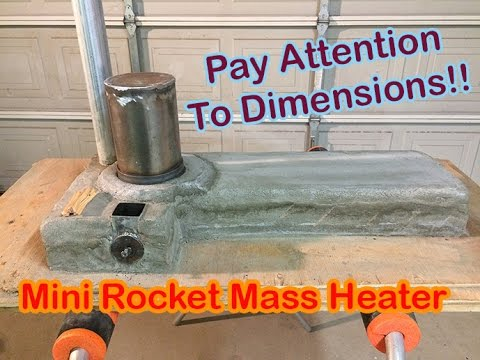 Science Fair Project. Mini Rocket Mass Heater Part 4