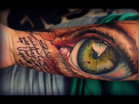 12 striking stunning realistic eye tattoos youtube for Tattoo artist license