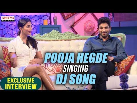 Pooja Hegde Singing Dj Song | Allu Arjun & Pooja Hegde Exclusive Interview About DJ