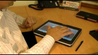 Windows 7 Multi-Touch and Pen Features on a Fujitsu Lifebook T4310 Tablet PC