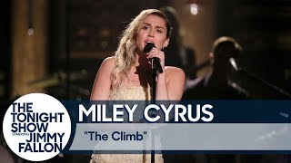 "Download Lagu Miley Cyrus Closes The Tonight Show with ""The Climb"" Gratis STAFABAND"