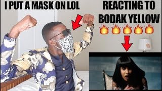 REACTING TO BODAK YELLOW // CARDI B (VIDEO) !!!!