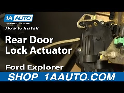 How to install replace tailgate power lock actuator for 2002 ford escape rear window hinge
