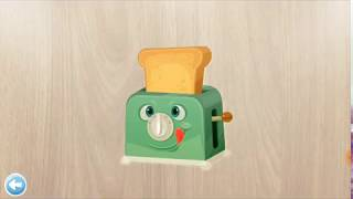 Baby learning with Puzzles for kids - Educate children to recognize objects in the kitchen