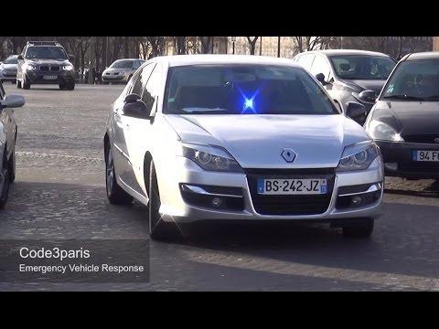 Voitures de police banalisées (compilation) // Unmarked Police Cars Paris