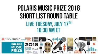 Watch Polaris Music Prize Short List Round Table