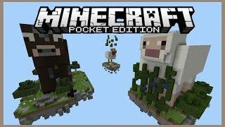 รีวิว Map เกาะที่มีรูปร่างสัตว์ต่าง Minecraft pe 0.15.6