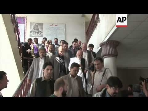 Presidential candidates Abdullah and Ahmadzai vote in election run-off