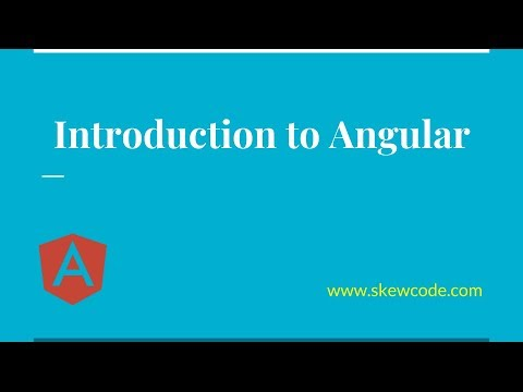 Introduction to Angular | Angular tutorial for beginners