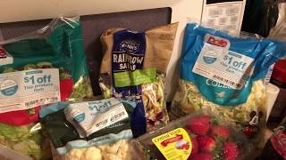 3 stores, 3 days, grocery Haul for one