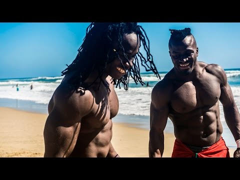 Return of African Beasts Alseny and Sekou @ Huntington Beach W/ Strength Project