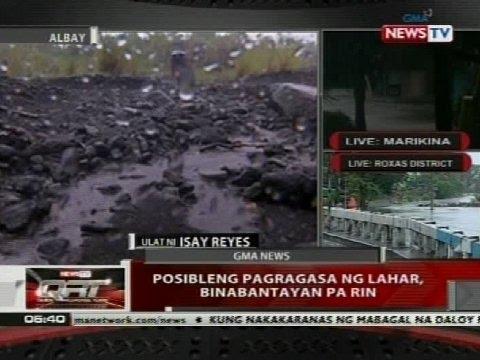 QRT: Posibleng pagragasa ng lahar, binabantayan pa rin
