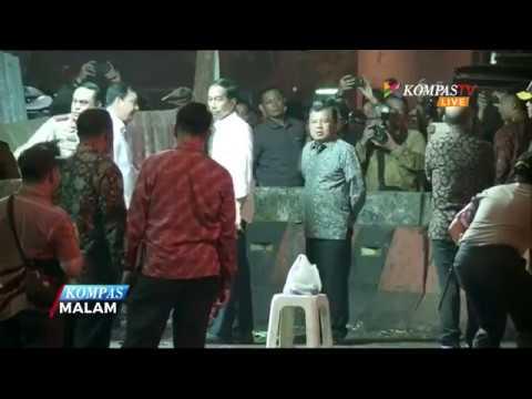 Jokowi dan JK Tinjau Lokasi Ledakan di Kampung Melayu