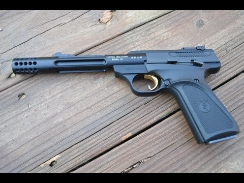 Browning Buckmark .22 with the Tactical Solutions Barrel.