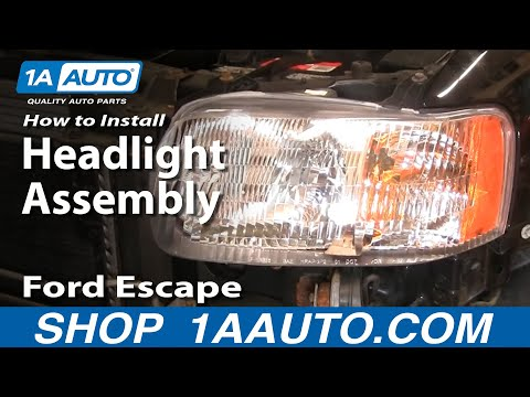 How To Install Replace Headlight and Bulb Ford Escape 01-07 1AAuto.com