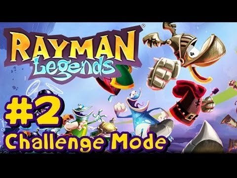 Rayman Legends Wii U - Challenge Mode App - Part 2 - Land of the Livid Dead