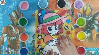 Đồ chơi trẻ em, TÔ MÀU TRANH CÁT CÔ GÁI ĐỌC SÁCH - Colored sand painting toys, SuSu TV.