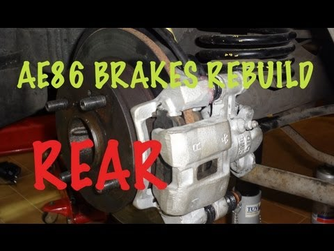 How to rebuild your car brakes 2 3 Rear Calipers 1987 Corolla AE86