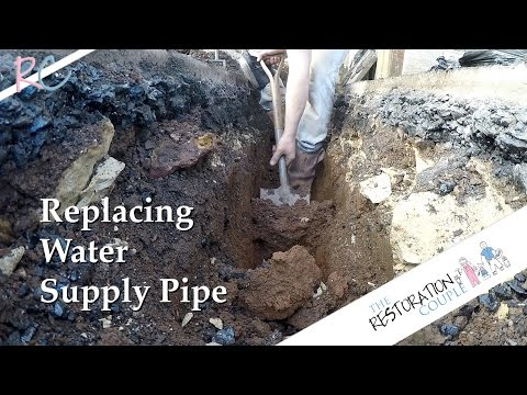 Replacing an Old Water Supply Pipe - Part 1 of 2