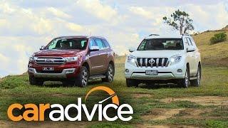 2016 Ford Everest/Endeavour Titanium v Toyota Prado VX off road comparison review
