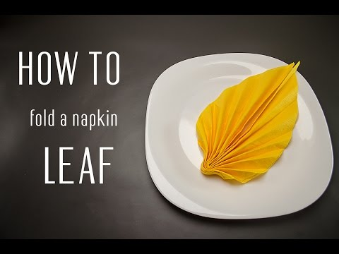 Napkin videolike - Pliage serviette chemise ...