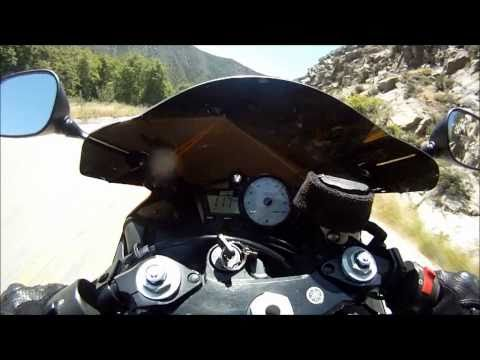 FlyBy Video. 2 Kawasaki ZX6R and 1 Yamaha R6. Nikon S70 and OnBoard GoPro HD Camera