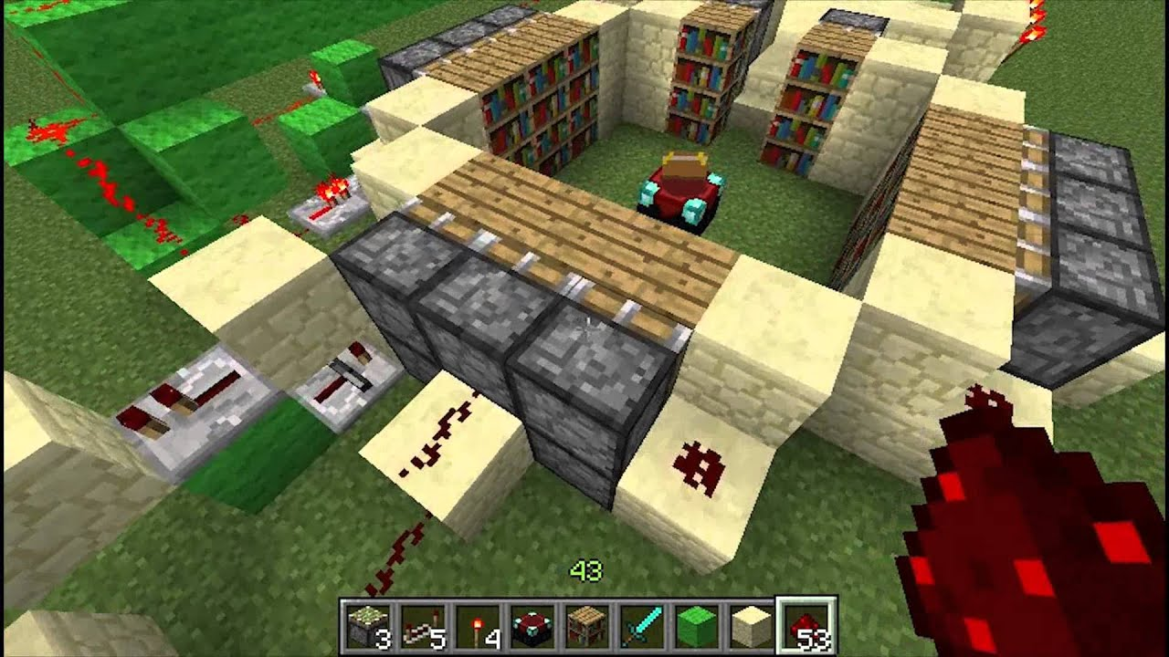 Minecraft Specific Level Enchanting Room Redstone