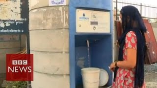 Water ATMs bring clean water to Delhi